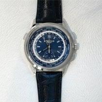 Patek Philippe World Time White Gold Chronograph Watch