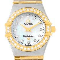 Omega Constellation My Choice Mini Steel Gold Diamond Watch...