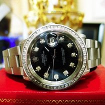 Rolex Oyster Perpetual Date 34mm Stainless Steel Diamond Watch