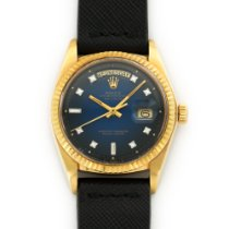 Rolex Day-Date Yellow Gold with Blue Vignette and Diamond Dial...