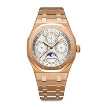 Audemars Piguet Royal Oak Perpetual Calendar Rose Gold Silver...