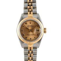 Rolex ladies 2tone Datejust - Champagne Roman Dial 69173