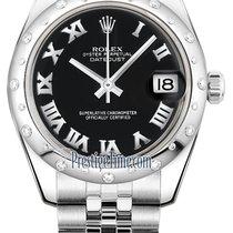 롤렉스 (Rolex) Datejust 31mm Stainless Steel 178344 Black Roman...
