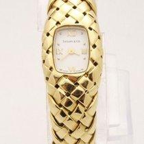 Tiffany & Co 18k Yellow Gold Basket Weave Bracelet Ladies...