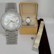 Louis Vuitton Ladies Louis Vuitton Tambour Mother Of Pearl Mop...