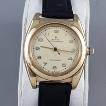 Rolex Bubble Back 14k Yellow Gold Arabic numerals dial gold
