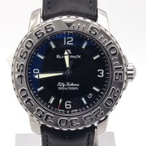 Blancpain 50 Fathoms 2200 Diver Complete Box And Papers On Strap