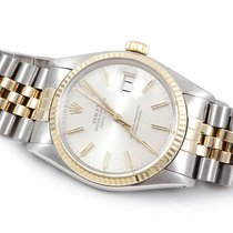 Rolex Mens 18K/SS Datejust - Silver Stick Dial - Jubilee Band...