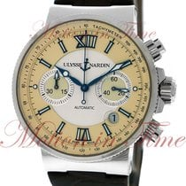 Ulysse Nardin Maxi Marine Chronograph, Silver & Ivory Dial...