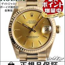 롤렉스 (Rolex) 【ロレックス】デイトジャスト K18金無垢 ボーイズ腕時計 自動巻きオートマ 18金イエローゴールド...