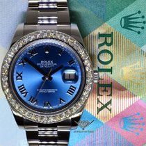 Rolex Datejust II Steel 3.30 CT Diamond Bezel Mens Watch...