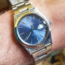 Tudor Prince Oyster date quartz blue dial 1980 with papers