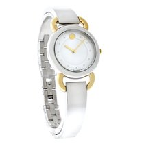 Movado Linio Ladies MOP Two Tone Bracelet Swiss Quartz Watch...