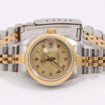 Rolex Lady 18K/SS Datejust - Champagne Roman Dial - Jubilee...
