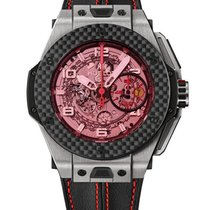 Hublot Big Bang Ferrari Chronograph Skeleton Titanium Carbon...