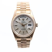 Rolex Mens 18K Yellow Gold Bark Day-Date President - Silver...
