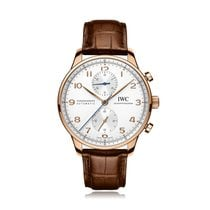IWC Schaffhausen Portugieser Chronograph Rose Gold Mens Watch...