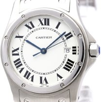 Cartier Polished Cartier Santos Cougar Steel Quartz Mid Size...