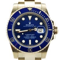 "Rolex Submariner Date ""Smurf"" 18kt White Gold Blue..."