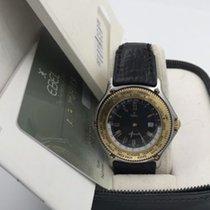 Ebel 18k Gold Bezel 1124913 Voyager Gmt Men's Automatic...