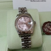 勞力士 (Rolex) Datejust PINK ROMAN Dial White Gold Bezel 26mm [NEW]
