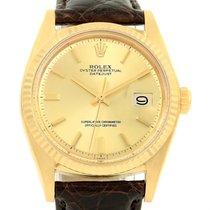 롤렉스 (Rolex) Datejust 18k Yellow Gold Vintage Mens Watch 1601