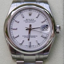 Rolex Datejust Midsize Watch White  Dial Stainless Steel New...