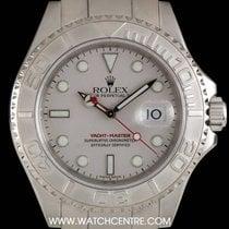 롤렉스 (Rolex) S/Steel Platinum Dial Farr 40 Yacht-Master Gents...
