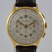 Breitling Vintage Chronograph 18k Gold #A3263 Landeron L51