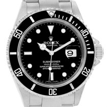 Rolex Submariner 40mm Black Dial Automatic Steel Mens Watch 16610