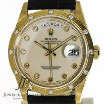 Rolex Day-Date Creme Diamond Dial Ref: 18308 RARE