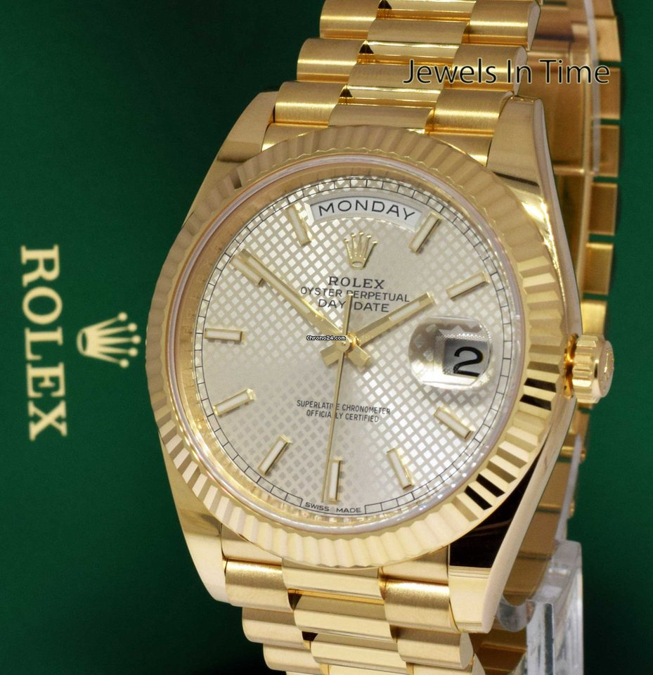9d364c5d5b5 Rolex Day Date President 18k Yellow Gold 40mm Box Papers 2018... por R   116.351 para vender por um Trusted Seller na Chrono24
