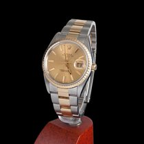 Rolex oyster date steel and gold men size