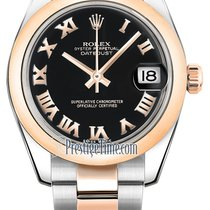 Rolex Datejust 31mm Stainless Steel and Rose Gold 178241 Black...