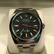 Rolex Milgauss 116400GV Green Glass, Black Dial 2013