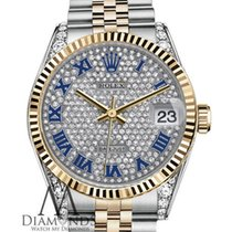 Rolex Datejust Pave Diamond Dial Automatic Stainless Steel And...