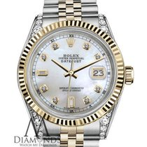 Rolex 36mm Rolex Datejust Two-tone White Mop Mother Of Pearl...