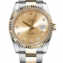 Rolex New Style Datejust Two Tone Fluted Bezel  & Champagn...