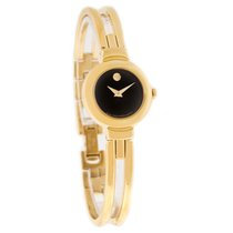 Movado Harmony Ladies Gold Tone Bangle Swiss Quartz Watch 0604427