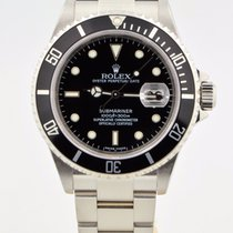 Rolex Submariner Stainless Steel Black Dial/bezel 16610 No Holes