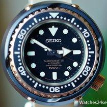 Seiko Prospex Master Marine 1000 Black Ceramic Case Pink Gold...