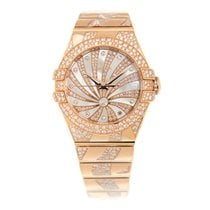 Omega Constellation 18 K Rose Gold With Diamonds White...