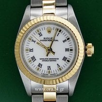 Rolex Oyster Perpetual 76193  Lady 18k Gold Steel Box&Papers