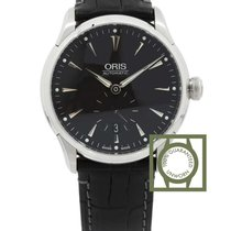 Oris Artelier Small Second 40mm Black Dial Crocodile Strap NEW