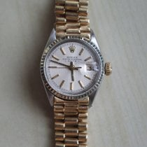 Rolex Oyster Perpetual Lady Date 750 Gold Bracelet NEW REVISION