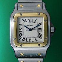 Cartier Santos Galbée Date 18k Gold Steel NEW Hiden Fold Clasp