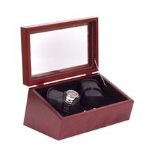 American Chest The General Quad Watch Winder - Solid Cherry...