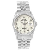 Rolex Datejust Steel White Gold Ivory Jubilee Dial Mens Watch...