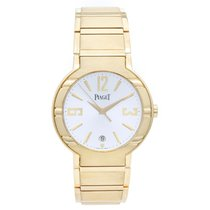 Piaget Polo 18k Yellow Gold Round Men's Watch Silver Dial...