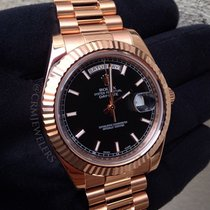 Ρολεξ (Rolex) Day-Date II Gold President Black Sticks